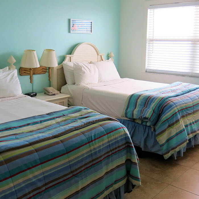 Double queen room in a spacious two-bedroom villa in Fort Myers Beach